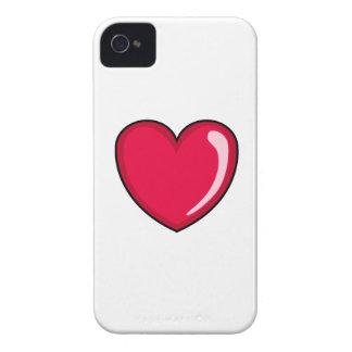 Corazón rojo Case-Mate iPhone 4 fundas