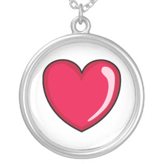 Corazón rojo colgante redondo