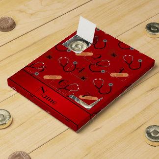 Corazón rojo conocido personalizado del vendaje