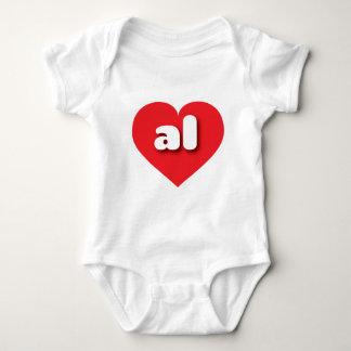 Corazón rojo de Alabama - mini amor Playera