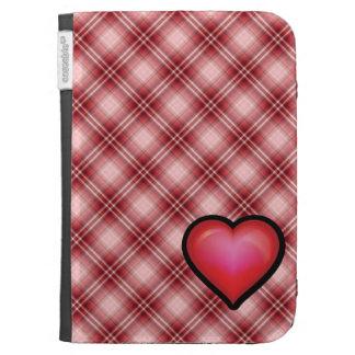 Corazón rojo de la tela escocesa