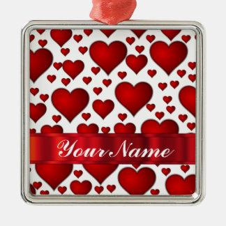 Corazón rojo de las tarjetas del día de San Ornato