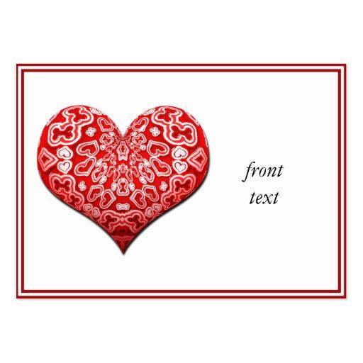 Corazón rojo de lujo tarjetas de visita grandes