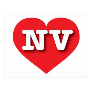 Corazón rojo de Nevada - amor grande Postal