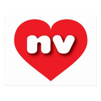 Corazón rojo de Nevada - mini amor Tarjeta Postal