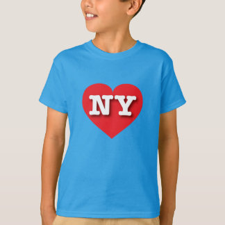 Corazón rojo de Nueva York - amor grande Playera