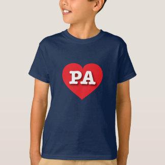 Corazón rojo de Pennsylvania - amor grande Playera