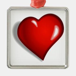 Corazón rojo adorno de reyes