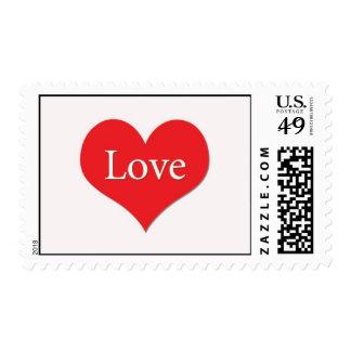 Corazón rojo del amor