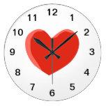 Corazón rojo del amor reloj