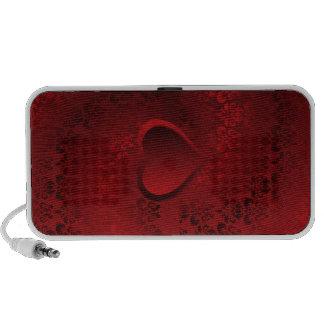 Corazón rojo del damasco iPhone altavoz
