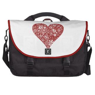 Corazón rojo del Doodle Bolsas De Portatil
