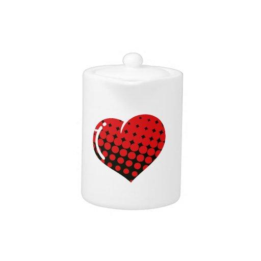 Corazón rojo del estallido del punto