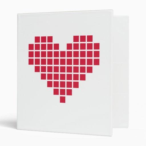 Corazón rojo del pixel