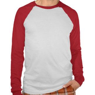 Corazón rojo del pixel camisetas
