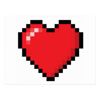 Corazón rojo del videojuego de Pixelated Postal