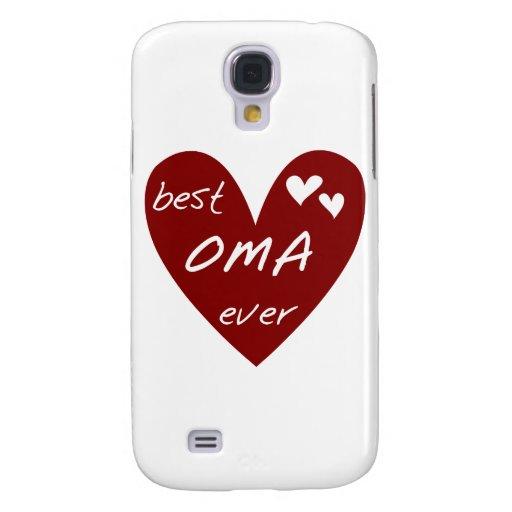 Corazón rojo el mejor Oma nunca y regalos Funda Para Galaxy S4