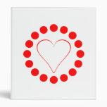 Corazón rojo en un círculo