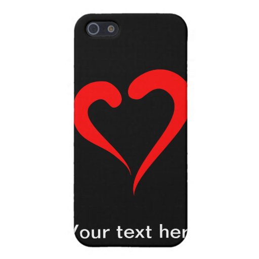 Corazón rojo estilizado iPhone 5 protectores