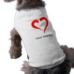 Corazón rojo estilizado prenda mascota