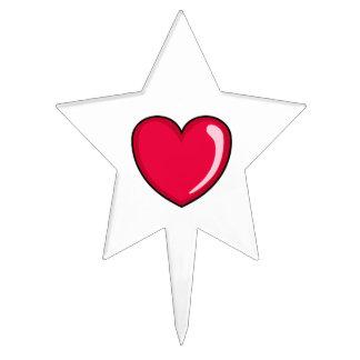 Corazón rojo figura para tarta