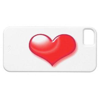 Corazón rojo funda para iPhone 5 barely there