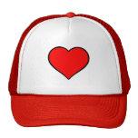 Corazón rojo gorra