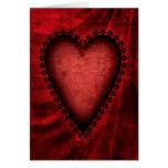 Corazón rojo gótico felicitaciones