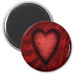 Corazón rojo gótico iman de frigorífico