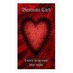 Corazón rojo gótico tarjeta de negocio