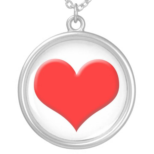 Corazón rojo grande colgante redondo
