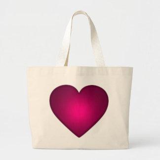 Corazón rojo hermoso bolsas