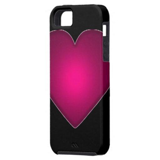 Corazón rojo hermoso iPhone 5 Case-Mate cárcasa