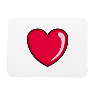 Corazón rojo imanes flexibles