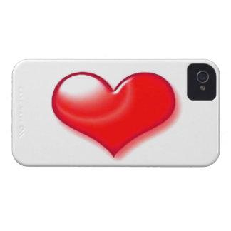 Corazón rojo iPhone 4 cárcasa