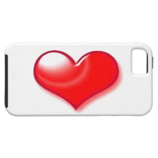 Corazón rojo iPhone 5 carcasas
