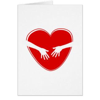 Corazón rojo lindo felicitaciones