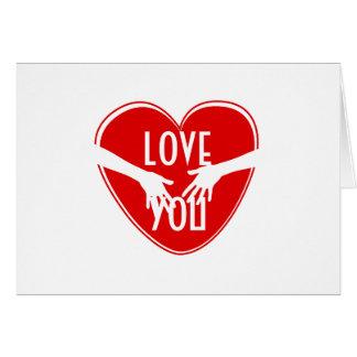Corazón rojo lindo tarjeta