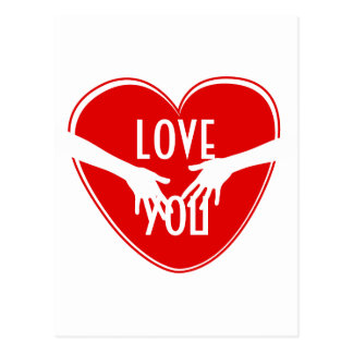 Corazón rojo lindo tarjetas postales