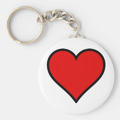 Corazón rojo llavero personalizado