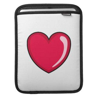 Corazón rojo mangas de iPad