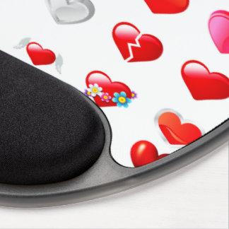 Corazón rojo Mousepad Alfombrilla De Raton Con Gel