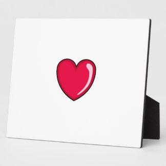 Corazón rojo placa de madera