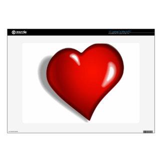Corazón rojo portátil calcomanía