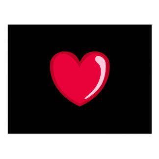 Corazón rojo postales