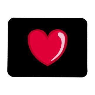 Corazón rojo rectangle magnet