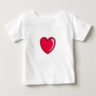 Corazón rojo remeras