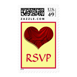 corazón rojo RSVP Sellos