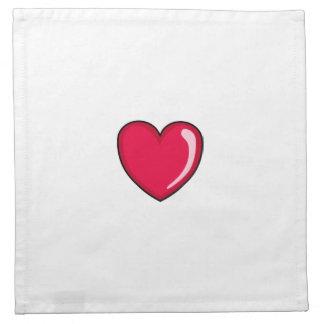 Corazón rojo servilleta de papel