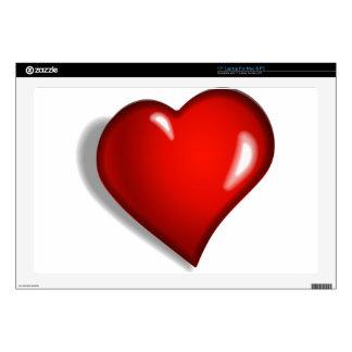 Corazón rojo skins para portátil